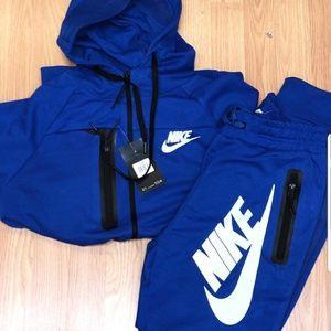 blue nike sweatsuit mens